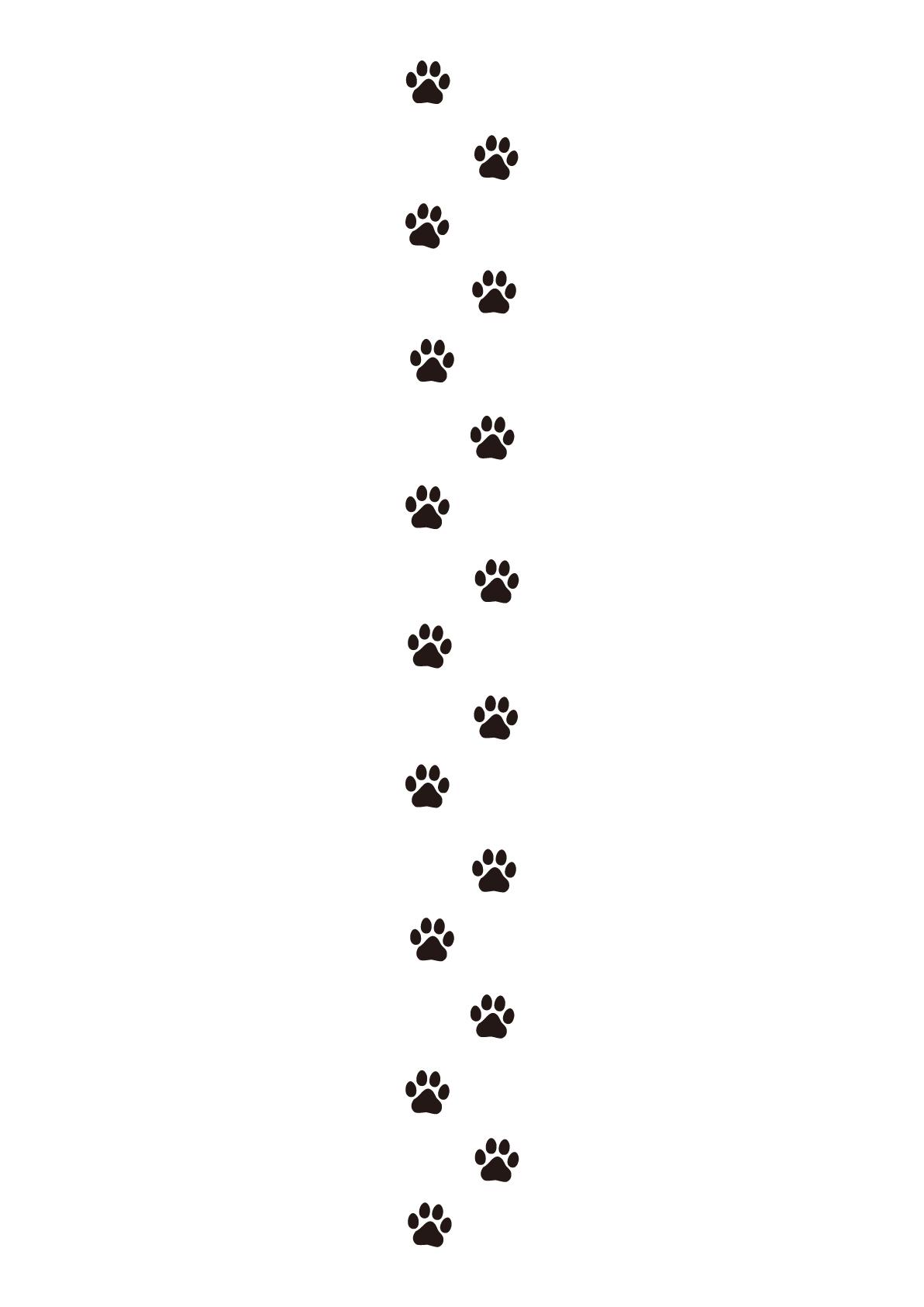 犬の連続した足跡のイラスト フリー張り紙素材 はりがみや